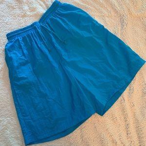 🐝 Vintage 80's Mureli Nylon Teal Bermuda Shorts